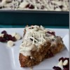 Decadent (But Still Vegan!) White Chocolate Cranberry-Kissed Cake