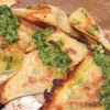 Baked Samosas with Mint Cilantro Sauce