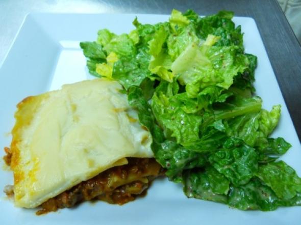 What's For Dinner? Lasagna & Caesar Salad