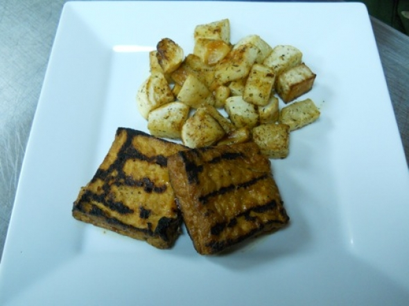 What's For Dinner? BBQ Tofu and Roasted Turnips