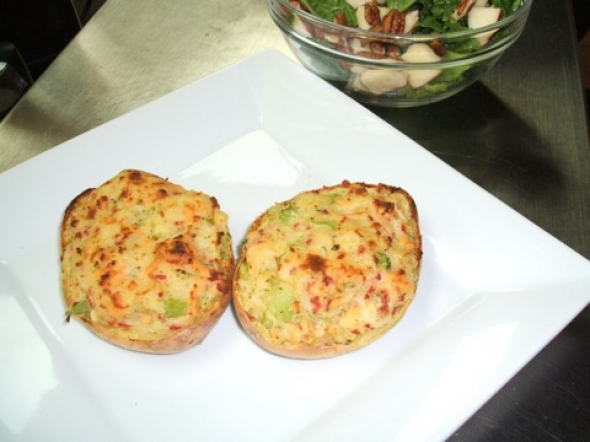 What's For Dinner? Twice Baked Potatoes