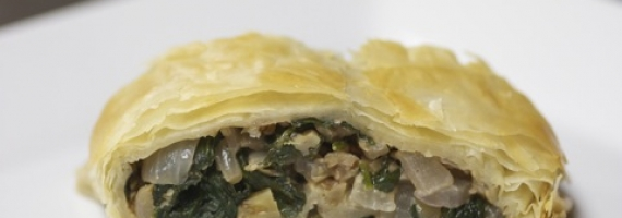 Spinach & Walnut Strudel