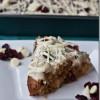 Decadent (But Still Vegan!) White Chocolate Cranberry-Kissed Cake