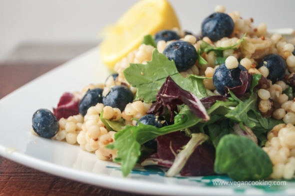 Israeli Couscous, Blueberry, and Walnut Salad