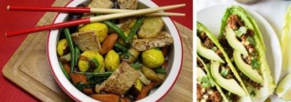 Twelve Fast and Easy 30 Minute Vegan Dinners