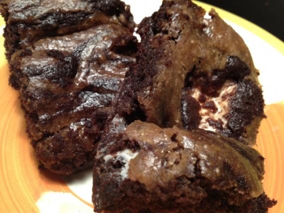Gooey Vegan Goodness – Peanut Butter Marshmallow Brownies
