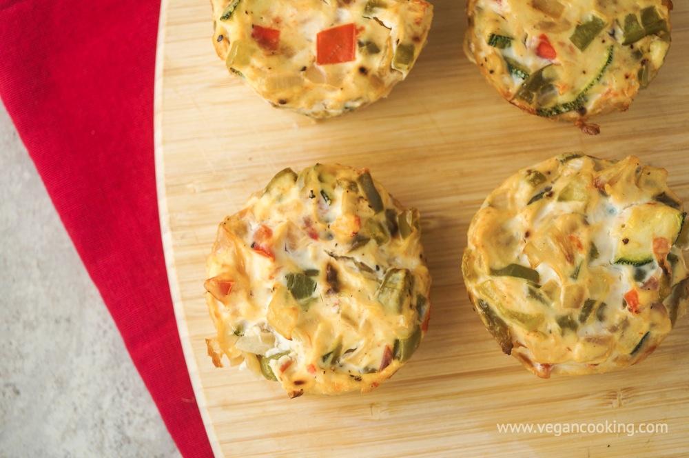 Vegan Quiche Cupcakes