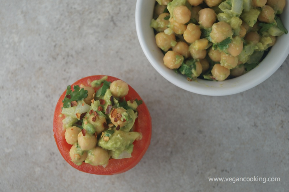Garbanzo & Avocado Salad Recipe — Dishmaps