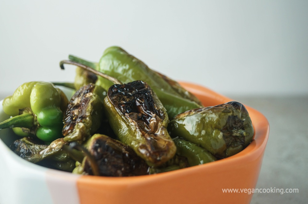 Roasted Sea Salt and Pepper Padron Peppers